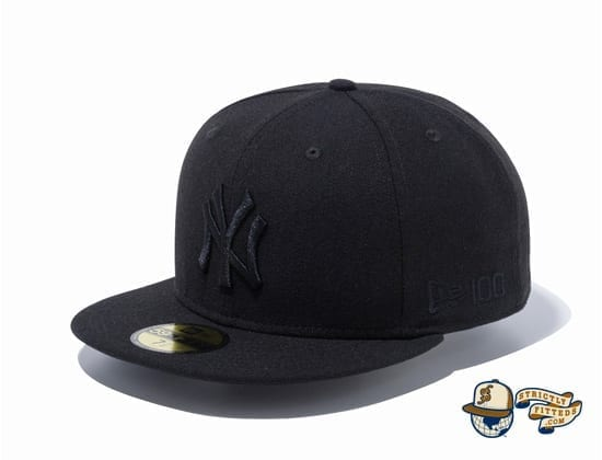 New York Yankees New Era 100th Anniversary Logo Side 59Fifty Fitted Cap by MLB x New Era