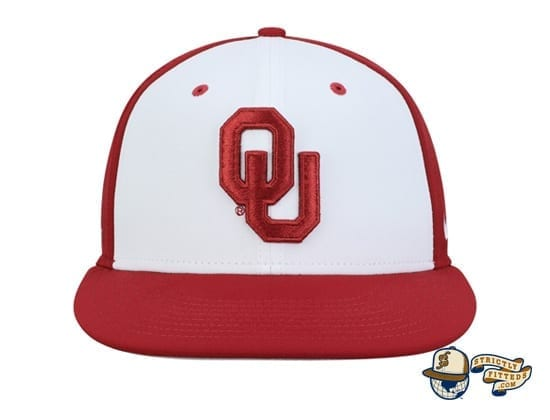 Oklahoma Sooners White Crimson Performance True Fitted Hat by Nike