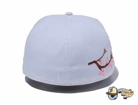 Sakura Light Side 59Fifty Fitted Cap by New Era white back