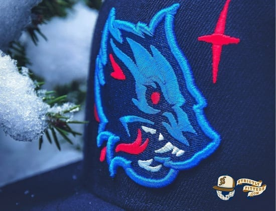Winter Wolf Navy 59Fifty Fitted Cap by Noble North x New Era logo