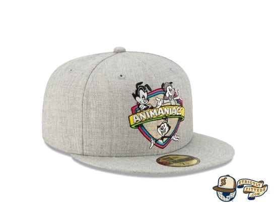 Animaniacs Heather Grey 59Fifty Fitted Cap by New Era side