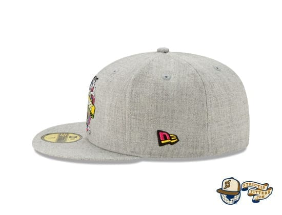 Animaniacs Heather Grey 59Fifty Fitted Cap by New Era flag side