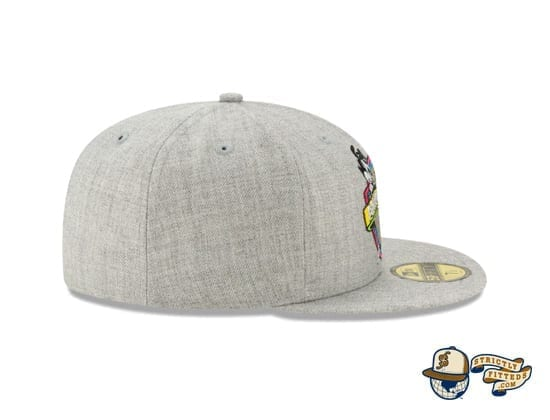 Animaniacs Heather Grey 59Fifty Fitted Cap by New Era right side