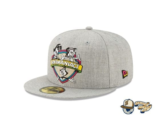Animaniacs Heather Grey 59Fifty Fitted Cap by New Era front side