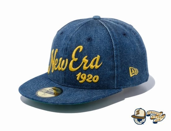 Big Logo 1920 59Fifty Fitted Cap by New Era jean flag side