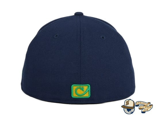 Chamuco Golden Domers Navy 59Fifty Fitted Hat by Chamucos Studio x New Era back