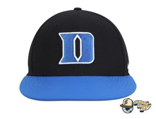 Duke Blue Devils Nike Aerobill Performance True Black Fitted Hat by Nike
