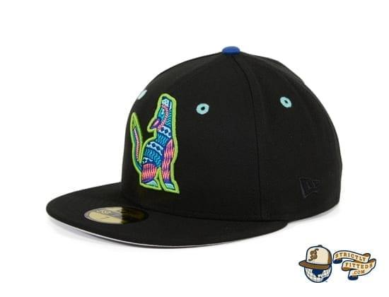 Hat Club Exclusive Hillsboro Sonadores Black Copa de la Diversion 59Fifty Fitted Hat by MiLB x New Era flag side