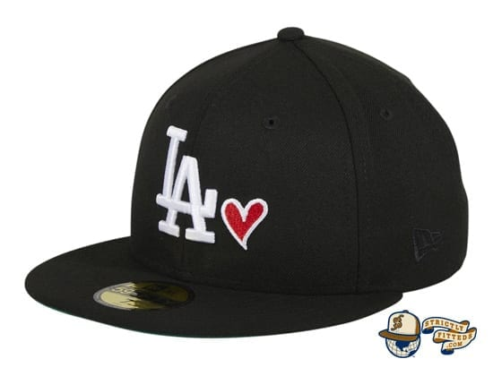 Hat Club Exclusive Los Angeles Dodgers Heart 59Fifty Fitted Hat by MLB x New Era flag side