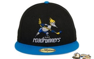 Phoenix Roadrunners 2T Black Light Blue 59Fifty Fitted Hat by New Era