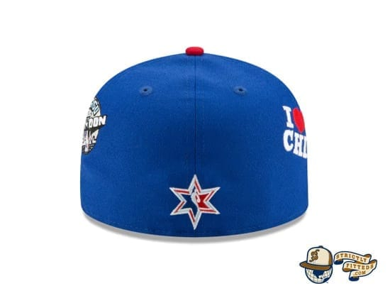 Just Don NBA All Star Game 59Fifty Fitted Cap by Just Don x NBA x New Era back blue