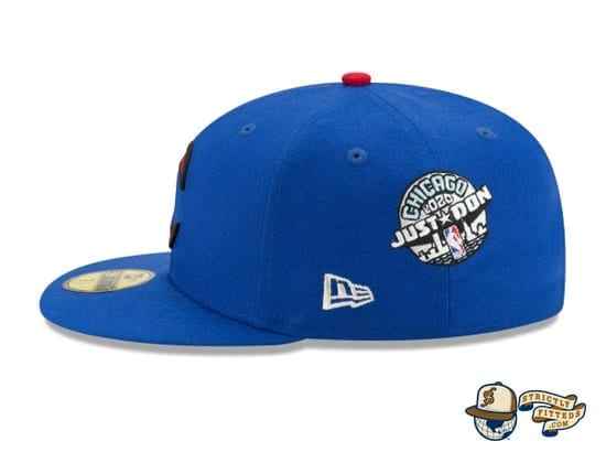 Just Don NBA All Star Game 59Fifty Fitted Cap by Just Don x NBA x New Era flag side blue