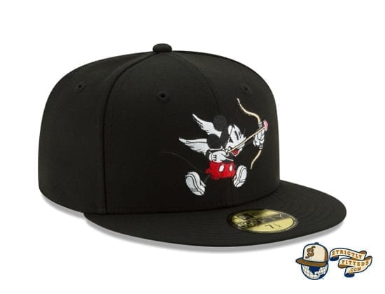 Mickey Mouse Bow And Arrow Black 59Fifty Fitted Cap by Disney x New Era patch side