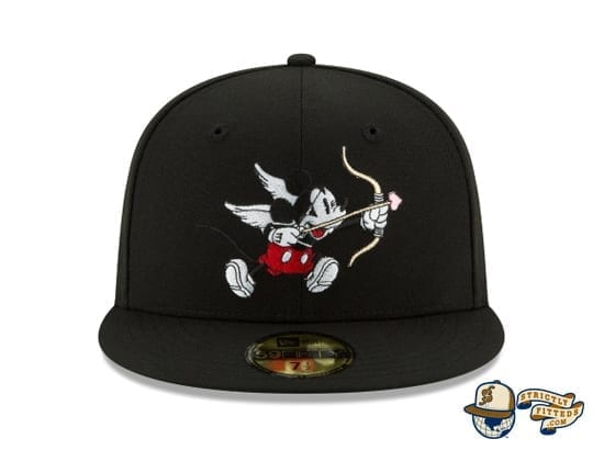 Mickey Mouse Bow And Arrow Black 59Fifty Fitted Cap by Disney x New Era