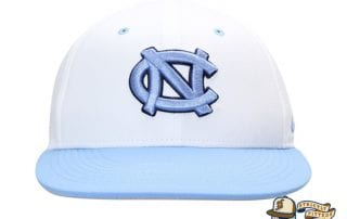 North Carolina Tar Heels Aerobill Performance True White Fitted Hat by Nike