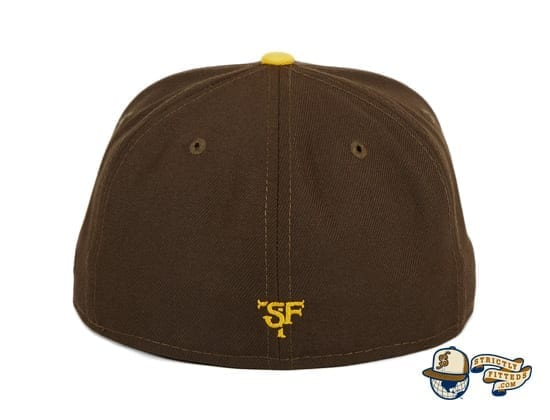 Smugglers TBTC Brown 59Fifty Fitted Hat by Thrill SF x New Era back