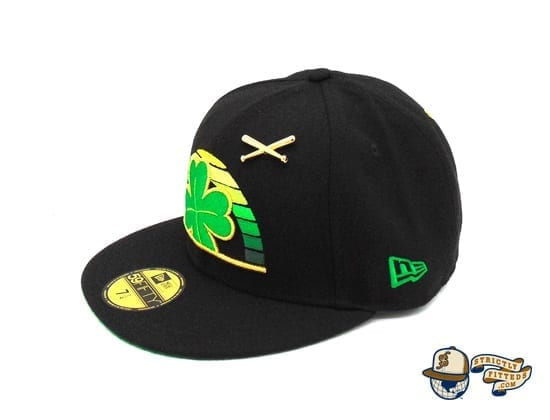 St. Patrick's Day Special 59Fifty Fitted Cap by Justfitteds x New Era flag side