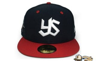 Tokyo Yakult Swallows 59Fifty Fitted Cap by Amazingstore x New Era front red brim
