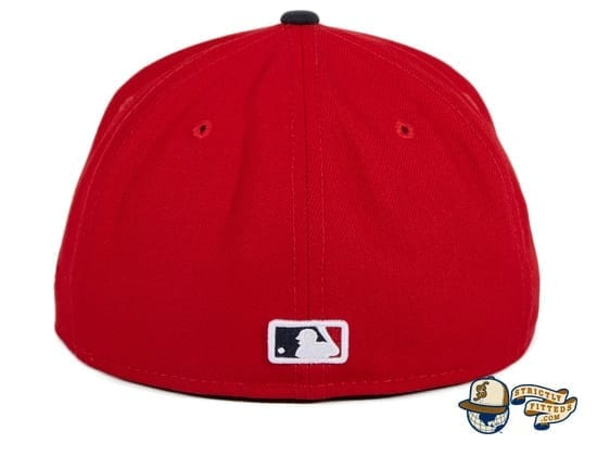 Washington Nationals Alternate Red Navy 59Fifty Fitted Hat by MLB x New Era back