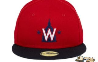 Washington Nationals Alternate Red Navy 59Fifty Fitted Hat by MLB x New Era