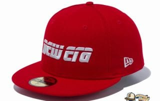 2000s New Era Logo 59Fifty Fitted Cap by New Era red flag side