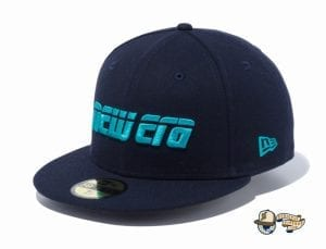 2000s New Era Logo 59Fifty Fitted Cap by New Era flag side