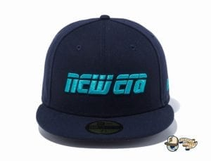 2000s New Era Logo 59Fifty Fitted Cap by New Era navy