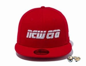 2000s New Era Logo 59Fifty Fitted Cap by New Era red