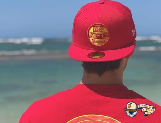 59Fifty Hawaii 59Fifty Fitted Cap by 808allday x New Era front red
