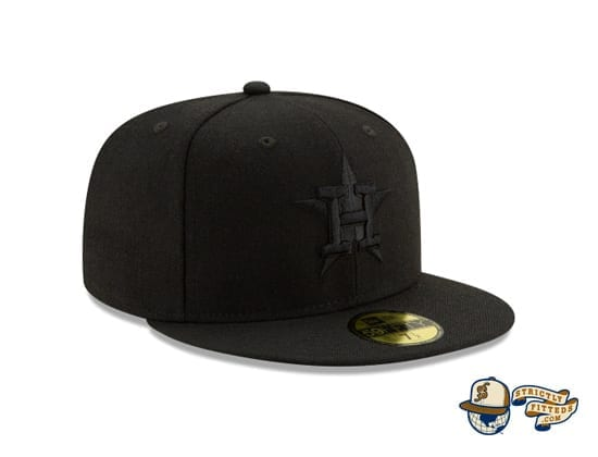 Black On Black 100th Anniversary 59Fifty Fitted Cap Collection by MLB x New Era right side