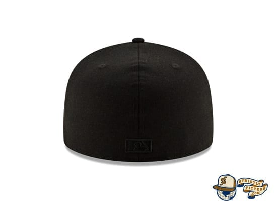 Black On Black 100th Anniversary 59Fifty Fitted Cap Collection by MLB x New Era back