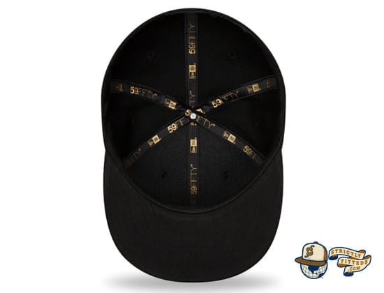Black On Black 100th Anniversary 59Fifty Fitted Cap Collection by MLB x New Era inside