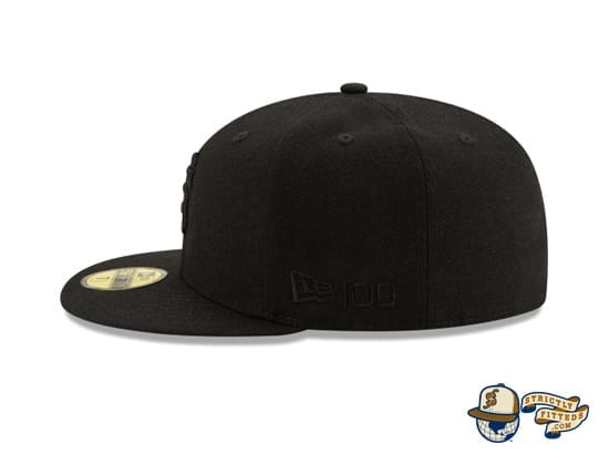 Black On Black 100th Anniversary 59Fifty Fitted Cap Collection by MLB x New Era flag side