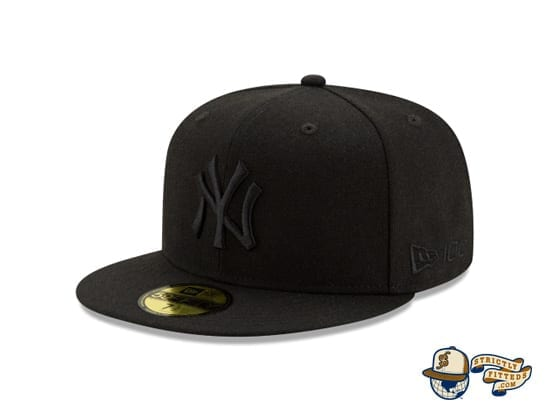 Black On Black 100th Anniversary 59Fifty Fitted Cap Collection by MLB x New Era left side