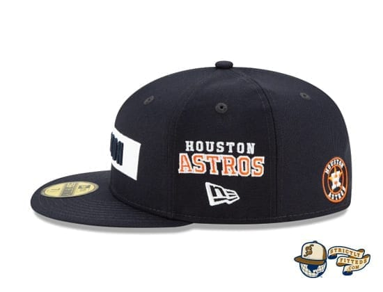 Boxed Woodmark 59Fifty Fitted Cap Collection by MLB x New Era astros side