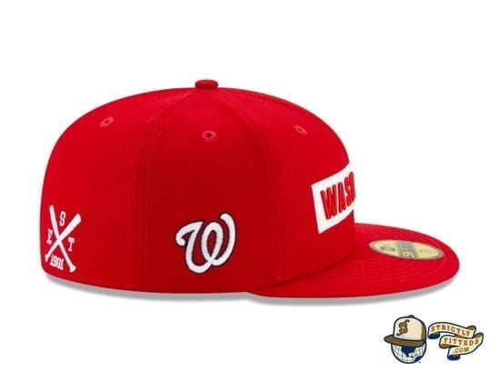 Boxed Woodmark 59Fifty Fitted Cap Collection by MLB x New Era patch side