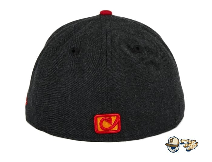 Chamuco Base Stealers Black 59Fifty Fitted Hat by Chamucos Studio x New Era back