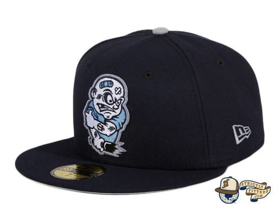 Chamuco Brawlers Navy 59Fifty Fitted Hat by Chamucos Studio x New Era flag side