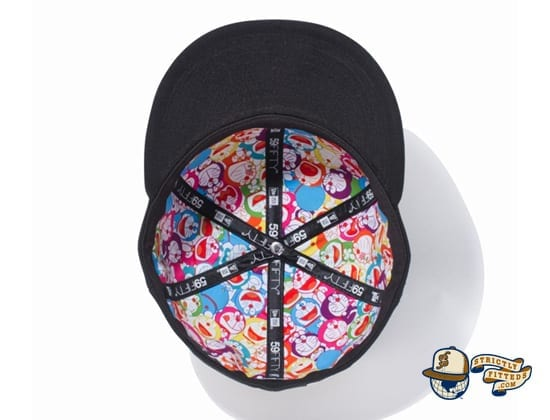 Doraemon Original Logo 59Fifty Fitted Cap by Doraemon x New Era inside
