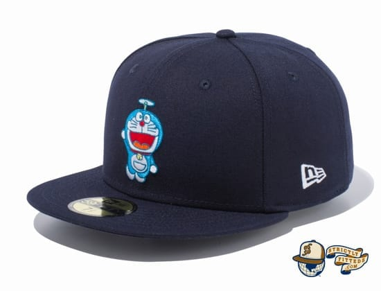 Doraemon Original Logo 59Fifty Fitted Cap by Doraemon x New Era flag side