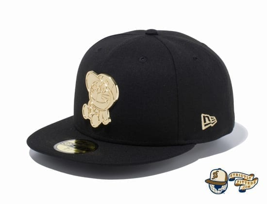Doraemon Original Metal Plate 59Fifty Fitted Cap by Doraemon x New Era black