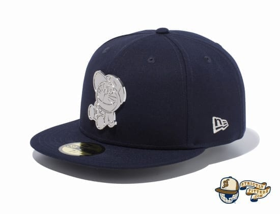 Doraemon Original Metal Plate 59Fifty Fitted Cap by Doraemon x New Era flag side