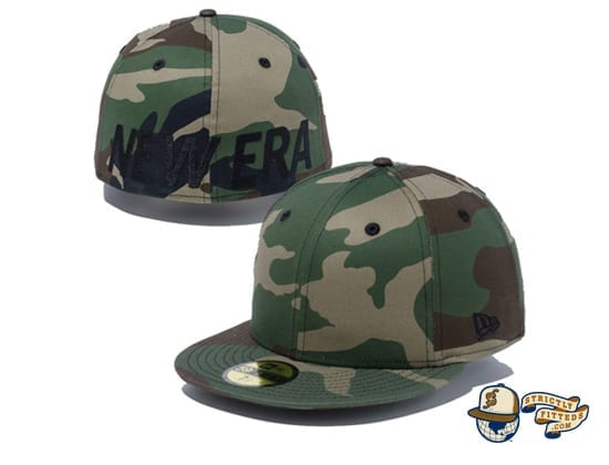 Essential New Era Logo 59Fifty Fitted Cap by New Era camo