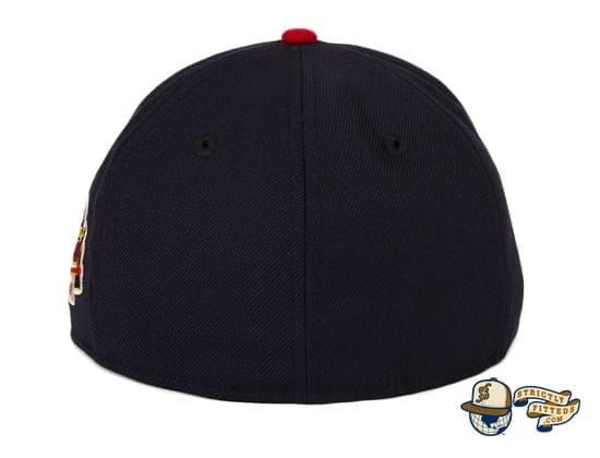 Hat Club Exclusive Milwaukee Braves 1957 World Series Patch Navy Red 59Fifty Fitted Hat by MLB x New Era back