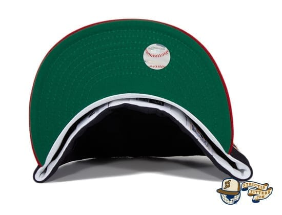 Hat Club Exclusive Milwaukee Braves 1957 World Series Patch Navy Red 59Fifty Fitted Hat by MLB x New Era undervisor
