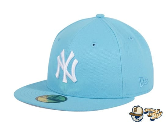 Hat Club Exclusive New York Yankees World Series Patch 59Fifty Fitted Hat by MLB x New Era flag side