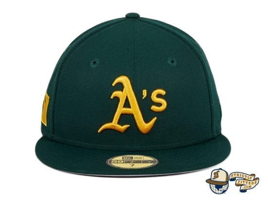 Hat Club Exclusive Oakland Athletics Oakland Flag 59Fifty Fitted Hat by MLB x New Era green