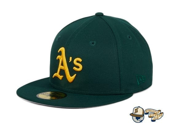 Hat Club Exclusive Oakland Athletics Oakland Flag 59Fifty Fitted Hat by MLB x New Era flag side green