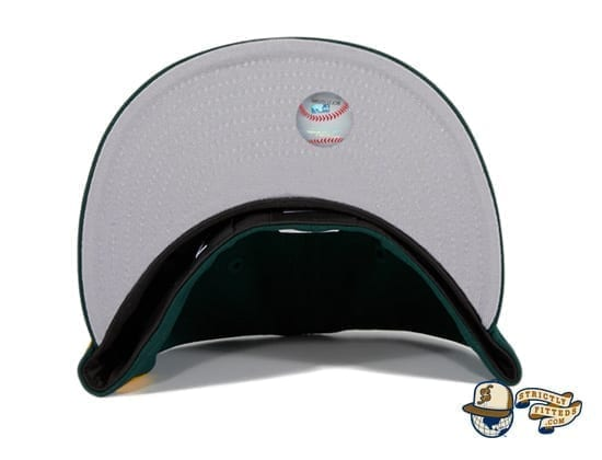 Hat Club Exclusive Oakland Athletics Oakland Flag 59Fifty Fitted Hat by MLB x New Era under visor