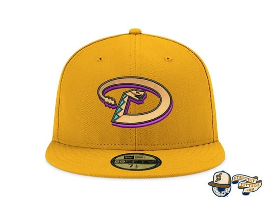 Hat Club Exclusive Patch Grey UV 59Fifty Fitted Hat Collection front by MLB x New Era
